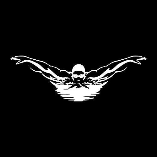 Deportes de natación Mariposa Stroke Remo Nadador Natación Splash Vinilo Etiqueta de la pared Etiqueta engomada del coche Calcomanía Dormitorio Sala de estar Club Decoración para el hogar Mural