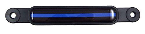 Thin Blue Line Police Flag Emblem Screw On Car License Plate Decal Badge