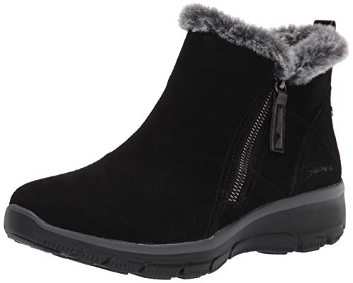 Skechers Women's Zip Bootie Fashion Boot, Black, 7