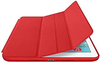 Smart Magnetic Closure Stand Cover Case for Apple iPad Air (Red)