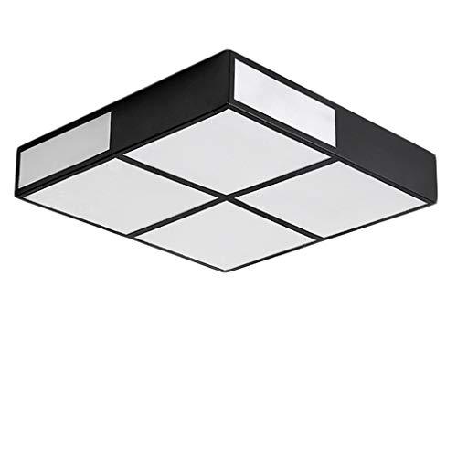 FamilieUtility led-plafondlamp, vierkant, creatief, voor slaapkamer, woonkamer, lamp, eenvoudig, modern, studio, warmte, romantische verlichting, JTD 45 * 45cm zwart.