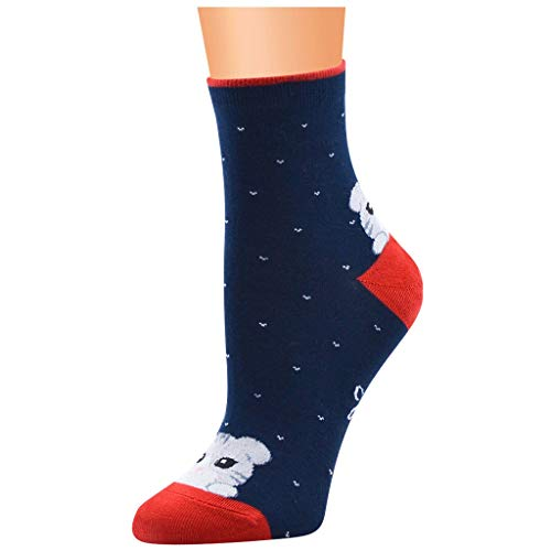 VRTUR Lustige Socken Damen, Bunte Anime Socken Funny Socken Weihnachts Lustige FüLlung Adventskalender Geschenke für Frauen Weihnachtssocken