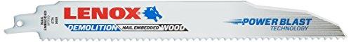 LENOX Tools Reciprocating Saw Blades, Demolition, 9-Inch, 6TPI, 25-Pack (20523B966R)