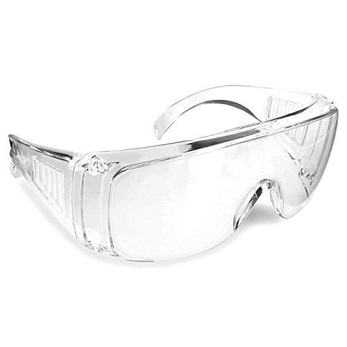 防塵ゴーグル ポリカーボネート製 メガネの上から装着可 花粉・粉じん対策 密着型 視界抜群 作業用ゴーグル 煮沸消毒可 飛沫ガード 汎用品 安全ゴーグル フリーサイズ FMTEGG160
