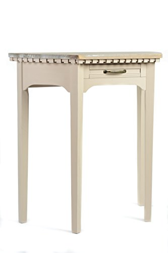 Way Home Store Table Demi-Lune Shabby 80 cm