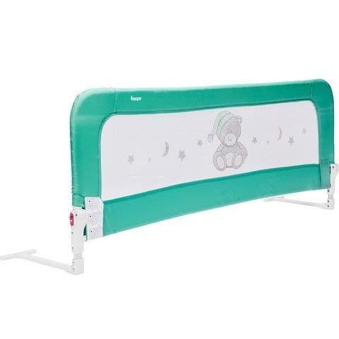 ZOPA Barrera para la cama MONNA barrera de cama barandilla seguridad de cama niño (Menthol Mint)