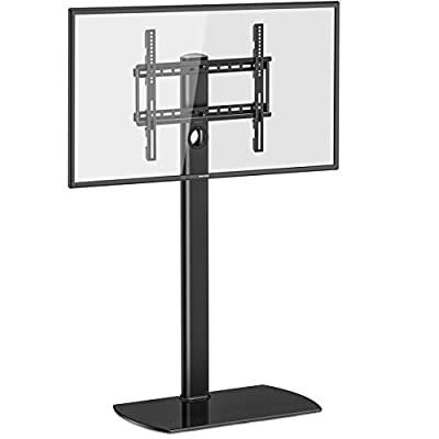 FITUEYES Universal tv Stand Swivel Mount Height Adjustable 32inch to 65inch TV