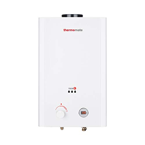 thermomate ZERO16 4.23 GPM Propane Tankeless Gas Water Heater for Outdoor, Low Pressure Startup, White