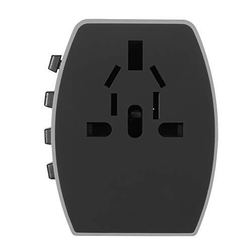 RBSD Toma de Corriente, Toma de Corriente Duradera práctica de 1500 W, maquinillas de Afeitar para pequeños aparatos Digitales Cámaras Digitales Computadoras portátiles(Gray)