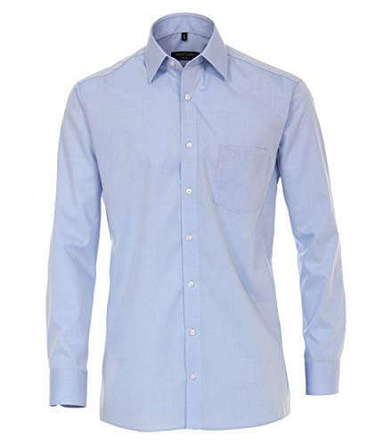 CASAMODA Herren Hemd Businesshemd, Blau (Hellblau 115), 46