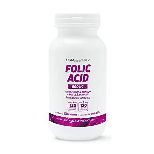 Ácido Fólico (Vitamina B9) de HSN | 800 mg, Vitaminas y minerales...