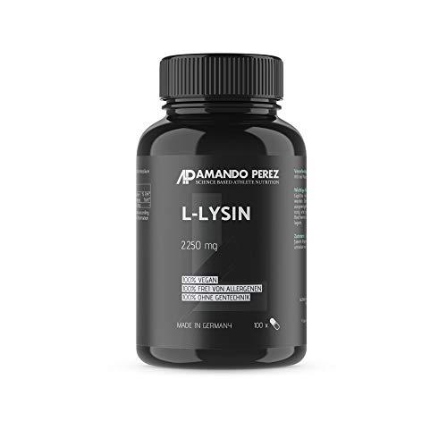 L-Lysin - 2250 mg pro Dosis - 100 Kapseln - Essenzielle Aminosäure - Hochdosiert