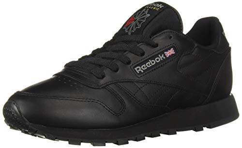 Reebok Men's Classic Leather Walking and Running Shoes Casual Sneakers, Black, 10.5 M
