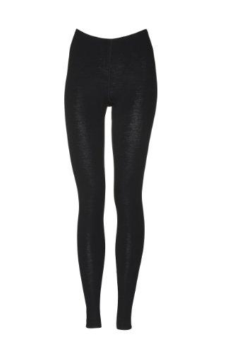 DILLING Merino Leggings für Damen - aus 100% Bio-Merinowolle Schwarz 38