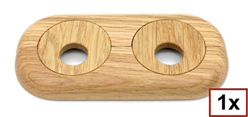 cerezo 15/mm 19/mm nogal madera real: arce Doble roseta para calefacci/ón de tubos roble distancia de los tubos variable haya 22/mm cubierta para tubos de calefacci/ón caoba