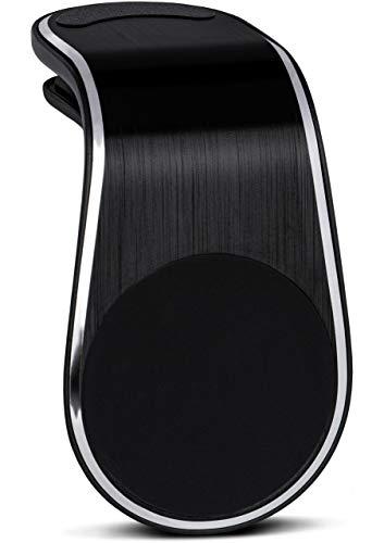 Preisvergleich Produktbild ONEFLOW Premium Magnet Handyhalterung Auto Lüftung für alle CAT Handys / Universal Handy Halterung KFZ Kompakt Ultra Leicht und Sicher - Handyhalter für das Auto Magnetisch,  Schwarz
