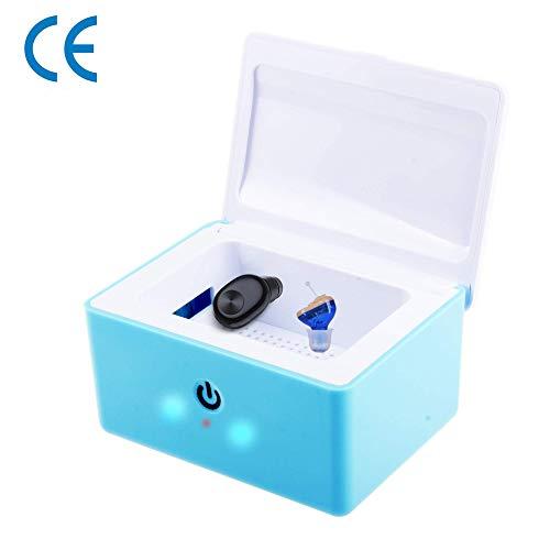 GT-LYD UV-Desinfektionsbox, Tragbare USB-Hörgerätetrocknerbox, UV-C-Schallverstärker-Reinigungskoffer Für Hörgeräte, Kopfhörer, Schmuck, Schlüssel, Schnuller,A
