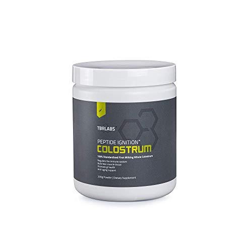 Pure Bovine Colostrum Powder - TBR Labs - Premium Colustrum Powder - Antibiotic & Hormone Free - USA Sourced - All Natural - 100% First Milking – 132 Servings (200 Grams)