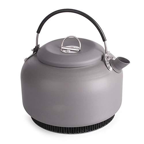ZJY Camping Wasserkocher, Teekanne, Kaffeekanne, Sammeln von Wärme Sammeln Ring Anti-Verbrühungs-Griff 1400ML mit Tasche Qualität Outdoor-Tool für Picknick Grill überleben