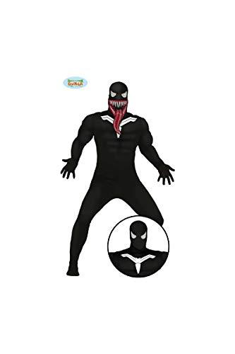 Spinnen Superheld mit Fratze Ganzkörper Kostüm für Herren Gr. M/L, Größe:L