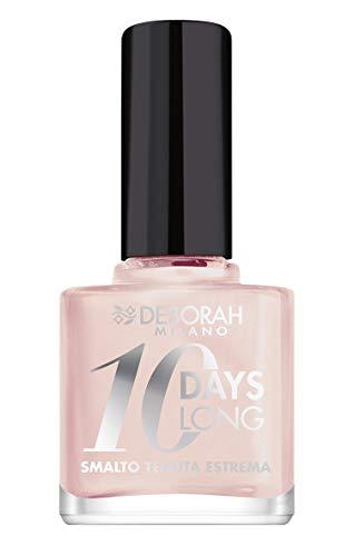 Deborah Smalto 10 Days Long N.580 Pearly rose, Tenuta fino a 10 giorni senza ritocco o lampada UV, per unghie nutrite e luminose