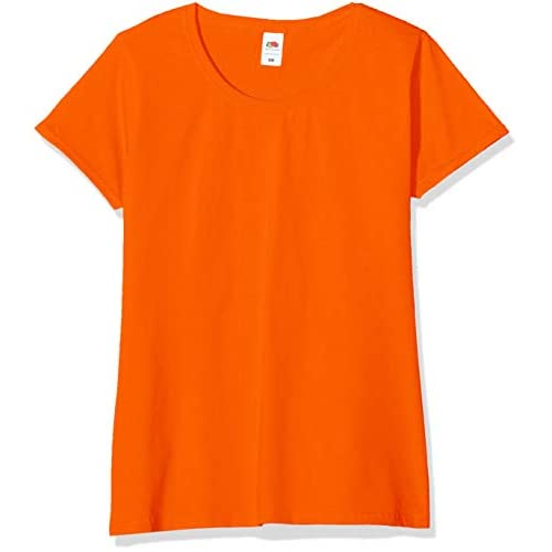 Fruit of the Loom Valueweight 5 Pack, T-Shirt Donna, Arancione (Orange 44), XS