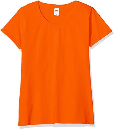 Fruit of the Loom Valueweight T-Shirt 5 Pack Camiseta, Naranja (Orange 44), XS (Pack de 5) para Mujer