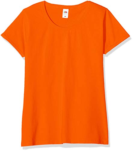 Fruit of the Loom Valueweight 5 Pack, T-Shirt Donna, Arancione (Orange 44), M