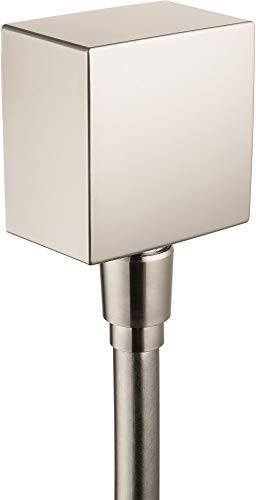 hansgrohe 1/2-inch Thread Connection Upgrade 3-inch Modern Wall Outlet in Brushed Nickel, 26455821