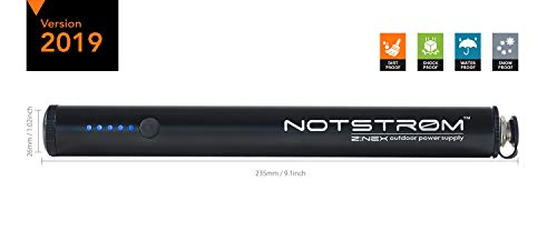 ZNEX NOTSTRØM XT | wasserdichte IP67 Outdoor Powerbank mit Rahmenhalter fürs Fahrrad, Rennrad, MTB, Trekkingrad zum Laden von iPhone Handy GPS USB Bike Lampe | 6.800mAh/2.4A