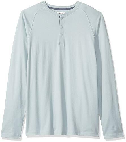 Amazon Brand - Goodthreads Men's Long-Sleeve Sueded Jersey Henley, Light Aqua, Medium