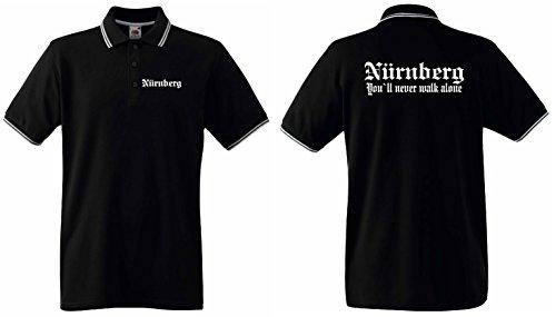 Nürnberg Herren Polo Shirt Retro Nürnberg You`ll Never Walk aloneXXL