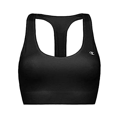 Champion Women's Absolute Sports Bra with SmoothTec Band, Black, X-Small