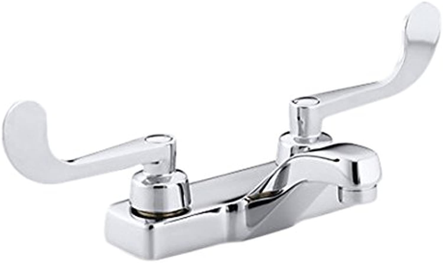 Kohler K-7404-5N-CP Triton 0.5 gpm centerset Commercial Bathroom Sink Faucet with wristblade Lever Handles, Drain not Included Polished Chrome