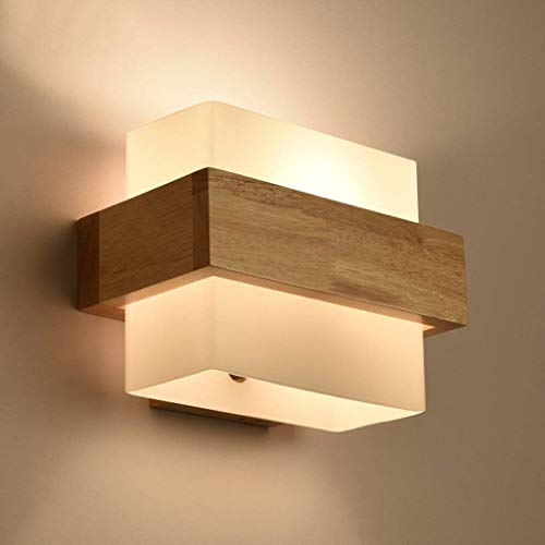 Luces Colgantes LED Lámpara de Pared de Madera Maciza Minimalista Moderno Estilo japonés Lámparas de Noche Dormitorio Sala de Estar Estudio Balcón Escalera Lámpara de Pared Iluminación Decorativa