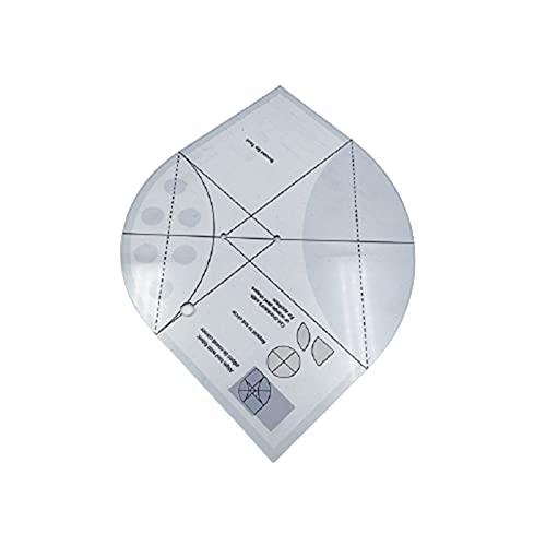 Wendao Plantilla multifuncional de regla de costura de acrílico para coser reglas de bricolaje, herramientas de patrón de costura de procesamiento de colcha suministros de costura