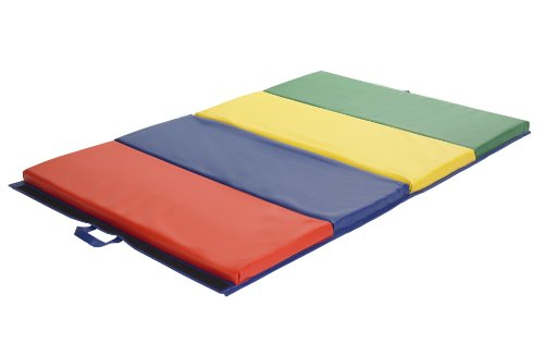 ECR4Kids SoftZone 4-Section Folding Panel Kids Tumbling Exercise Mat, 4 x 6 Feet, 2 Inches Thick