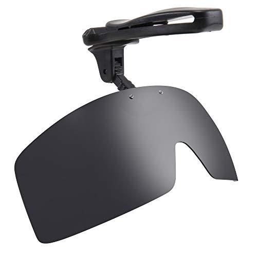 Karsaer Vision Polarized Hat Visors Clips Cap Clip on Adjustable Sunglasses For Fishing Biking Hiking Golf Eyewear UV400