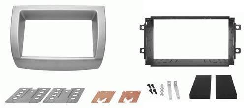 Mascherina + kit fissaggio autoradio aftermarket compatibile con Lancia Ypsilon 2DIN dal 2003 al 2011