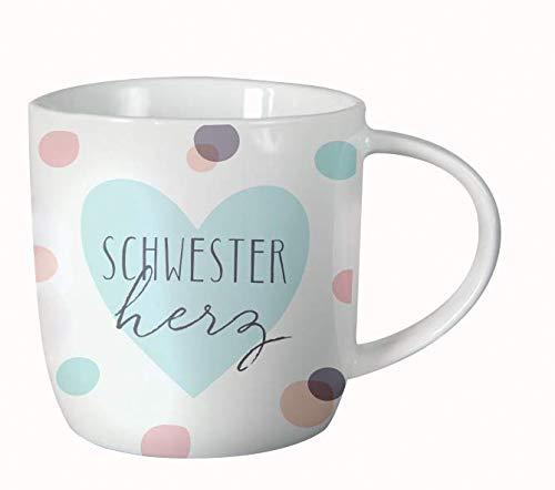 Grafik-Werkstatt 61142 Kaffeetasse fürs Büro| Porzellan verschenken | Schwesterherz Tasse