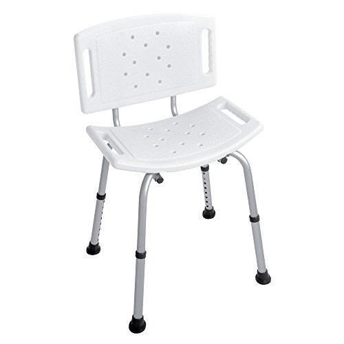 FERIDRAS Comfort Sedia Doccia, Silver/Cromo, 13x38x60 cm, metallo, plastica
