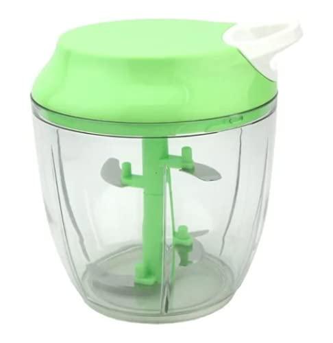 Processador de Alimentos Manual Triturador Mixer 5 Laminas (Verde)