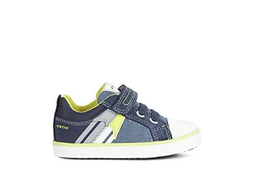 Geox B Kilwi Boy B, Zapatillas Bebé-Niñas, Avio/Fluor Yellow, 21 EU