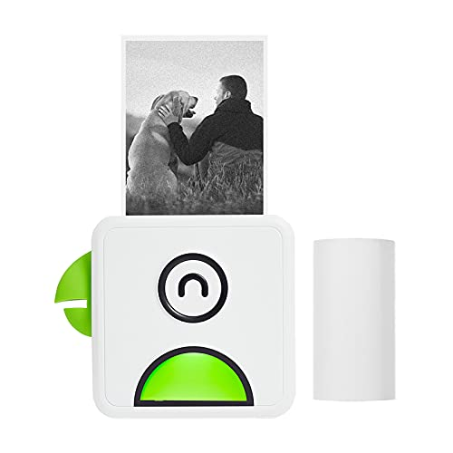 Bisofice mini impresora para movil,Poooli L1 Impresora fotográfica térmica de bolsillo 200ppp portátil BT Wireless Receipt Label Sticker Maker para plan de trabajo Memo Study Notes Listas ect.
