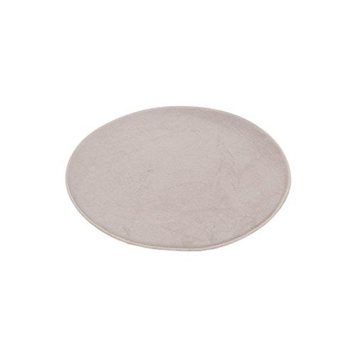Douceur d'Interieur 6GMB270TA Vitamine - Tappeto per Bagno, Rotondo, in Poliestere, 60 x 60 x 1 cm, Colore: Tortora