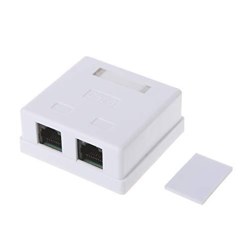Caja de escritorio de un solo puerto de conectores Cat6 RJ45 8P8C UTP sin blindaje Caja de montaje de escritorio de un solo puerto - (longitud del cable: 1 PC)