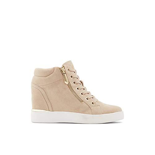 ALDO Damen Women's Casual Wedge Sneakers Shoes, Ailanna Turnschuh, Dunkelbeige, 38.5 EU