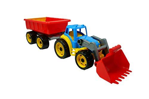 TechnoK 3688 Traktor med släpvagn, storlek 65 x 17,5 x 16 centimeter, flerfärgad