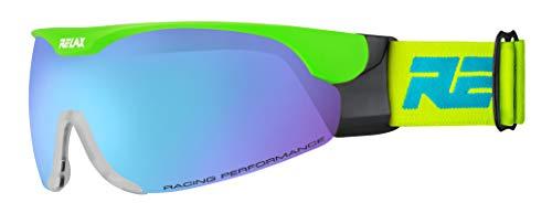 Relax Skibrille CROSS | Langlaufbrille | Biathlonbrille | Skatingbrille für Damen und Herren (neon grün)