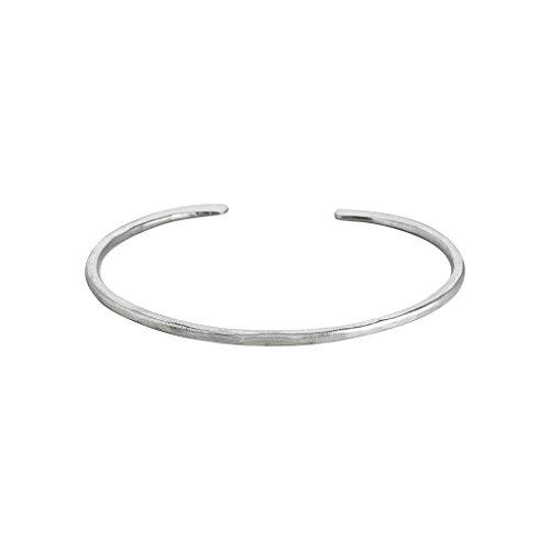 Roberto Leonardi Armreif N025, col. Silber - Zeitloses Design aus Messing mit Echtsilber-Plattierung